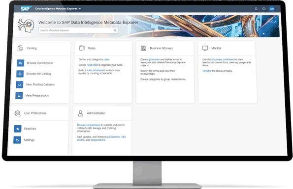 SAP Data Intelligence - Metadata Explorer